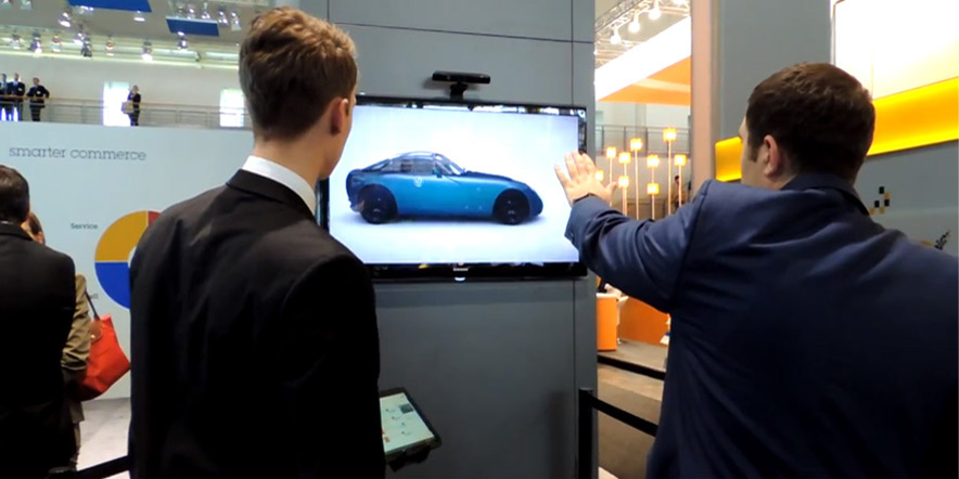 Kinect Based 3D Car demonstration at CeBIT 2013