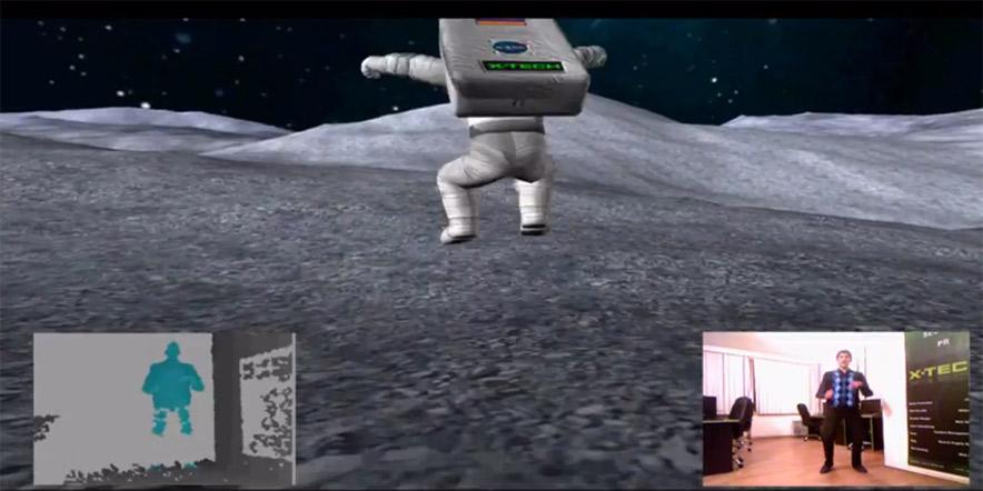 Kinect app - Feel The Moon Gravity