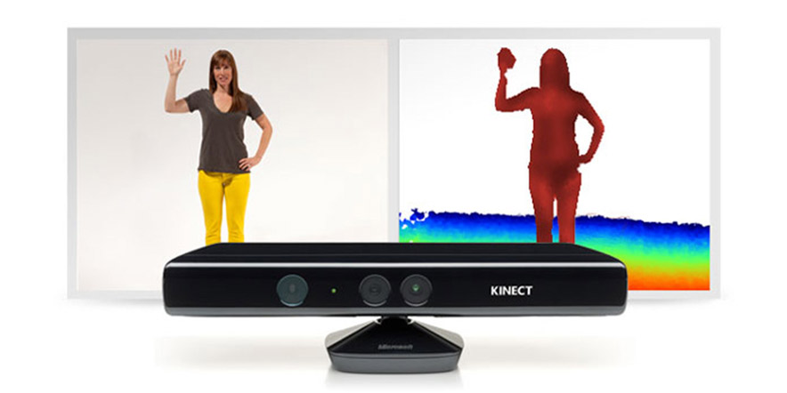 Kinect motion sensing input device