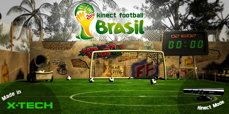 Kinect game football brasil 2014