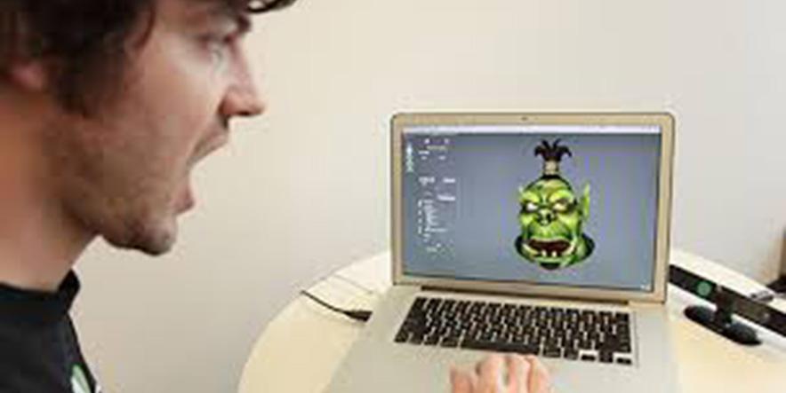 Kinect Recognizes Face Mimics