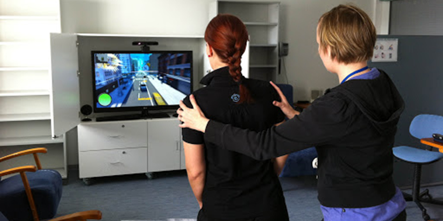 Kinect Treats Brain Damages