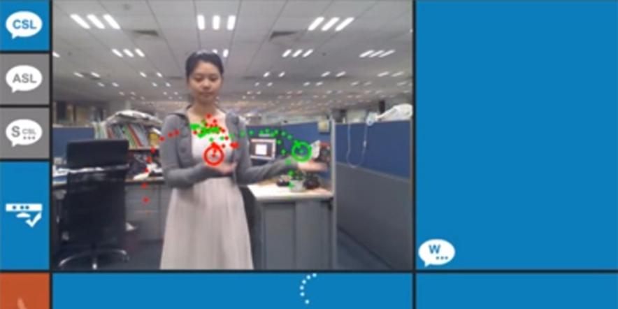Kinect games for deaf