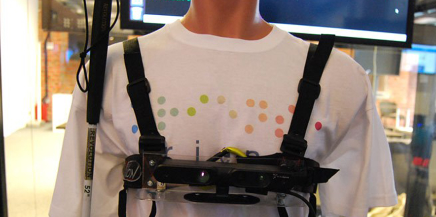 Kinect facilitates navigation of the blind