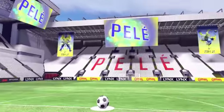 football with a virtual Pelé
