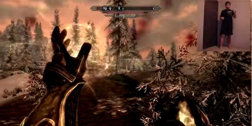 Kinect Skyrim