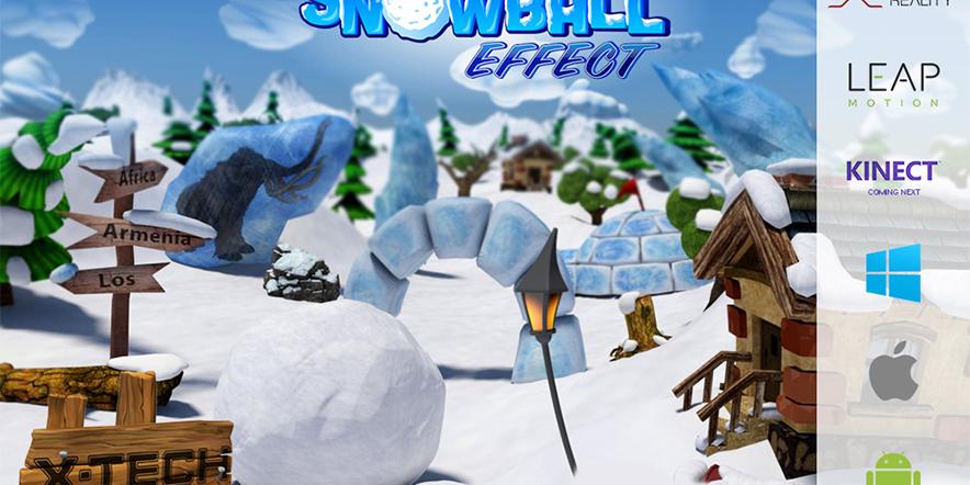 SnowBall Effect Game Supports Kinect V2