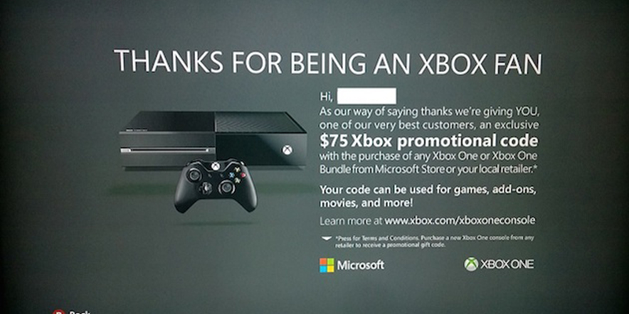 Get $75 credit by upgrading to an Xbox One
