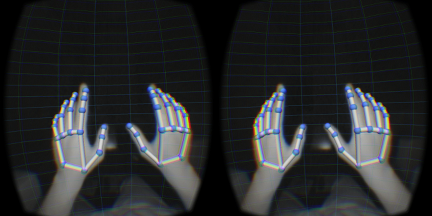 leap motion strapped to oculus