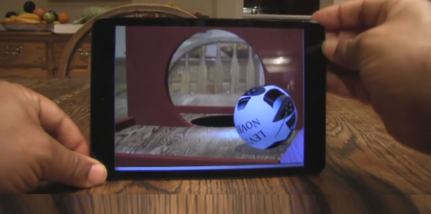 Augmented Reality WallBall