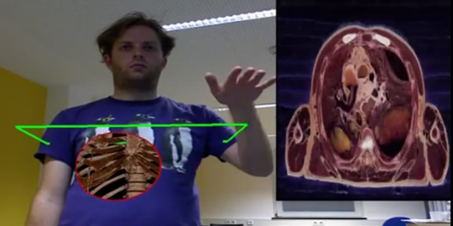 kinect along with AR Teaches Anatomy