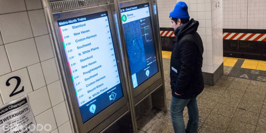 NY touchscreen subway map