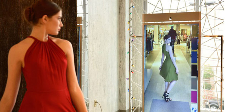 digital mirror compares clothes