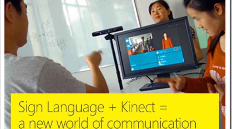 kinect translates sign language