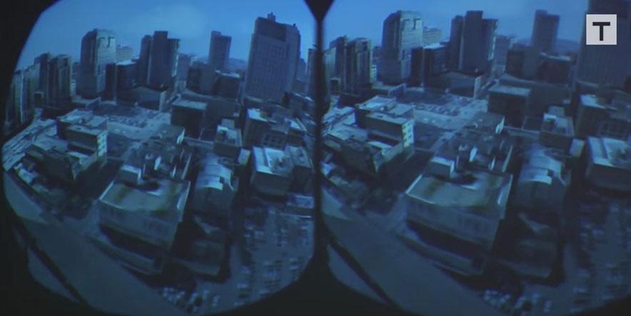 birdly virtual reality over San Francisco