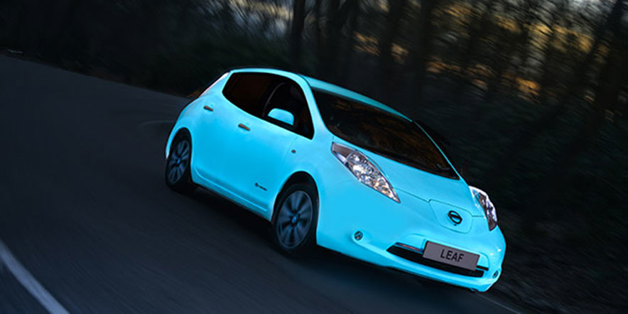 Nissan Presents its New Glow-in-the-Dark Leaf EV – The Car isn't Available for Purchase