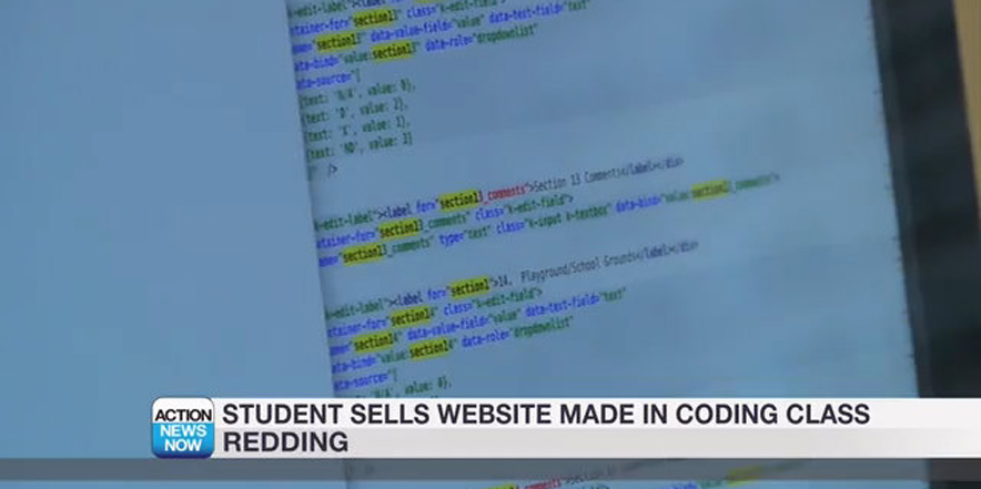 Student sells website created in coding class | X-TECH