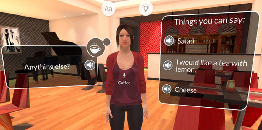 Virtual reality for learning languages